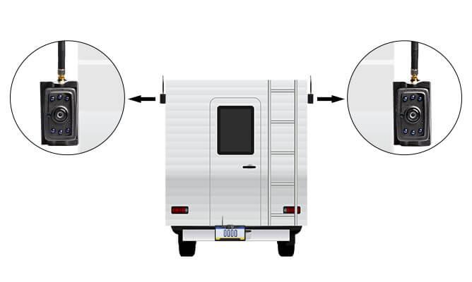 hd digital wireless rear view IP69K waterproof side camera