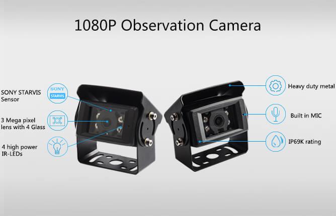 hd digital wireless rear view IP69K waterproof camera