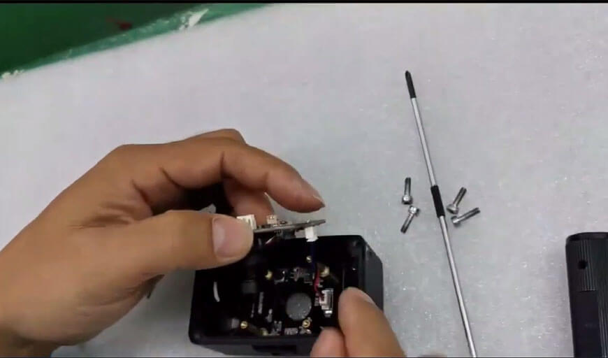Remove the 3 pin IR Lights cable