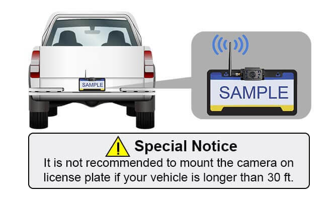 hd digital wireless rear view IP69K waterproof license plate camera