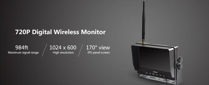 hd digital wireless rear view monitor features split screen