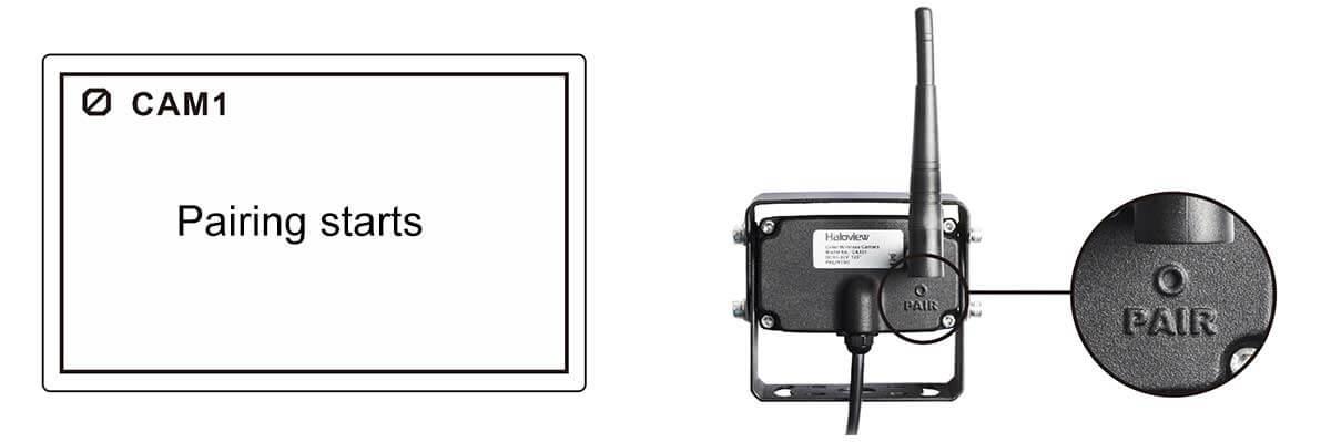 how to pair haloview camera system